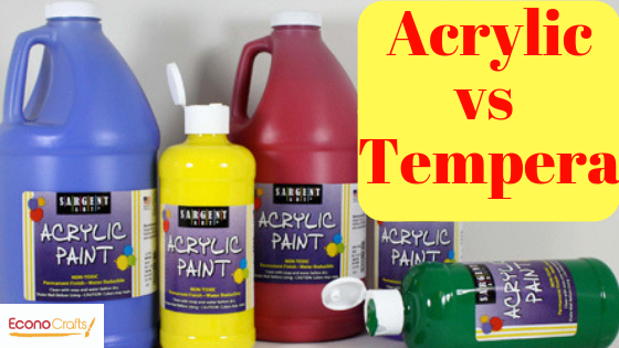 What's the Difference Between Acrylic Paint and Tempera Paint?
